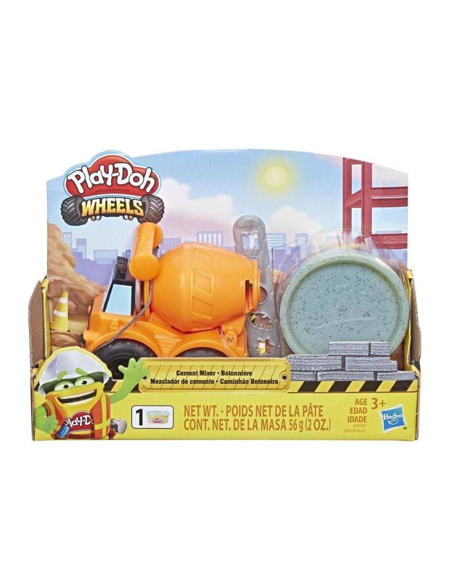 Play-Doh Wheels Mini Bulldozer Toy with 1 Can of Non-Toxic Stone Colored Buildin' Compound