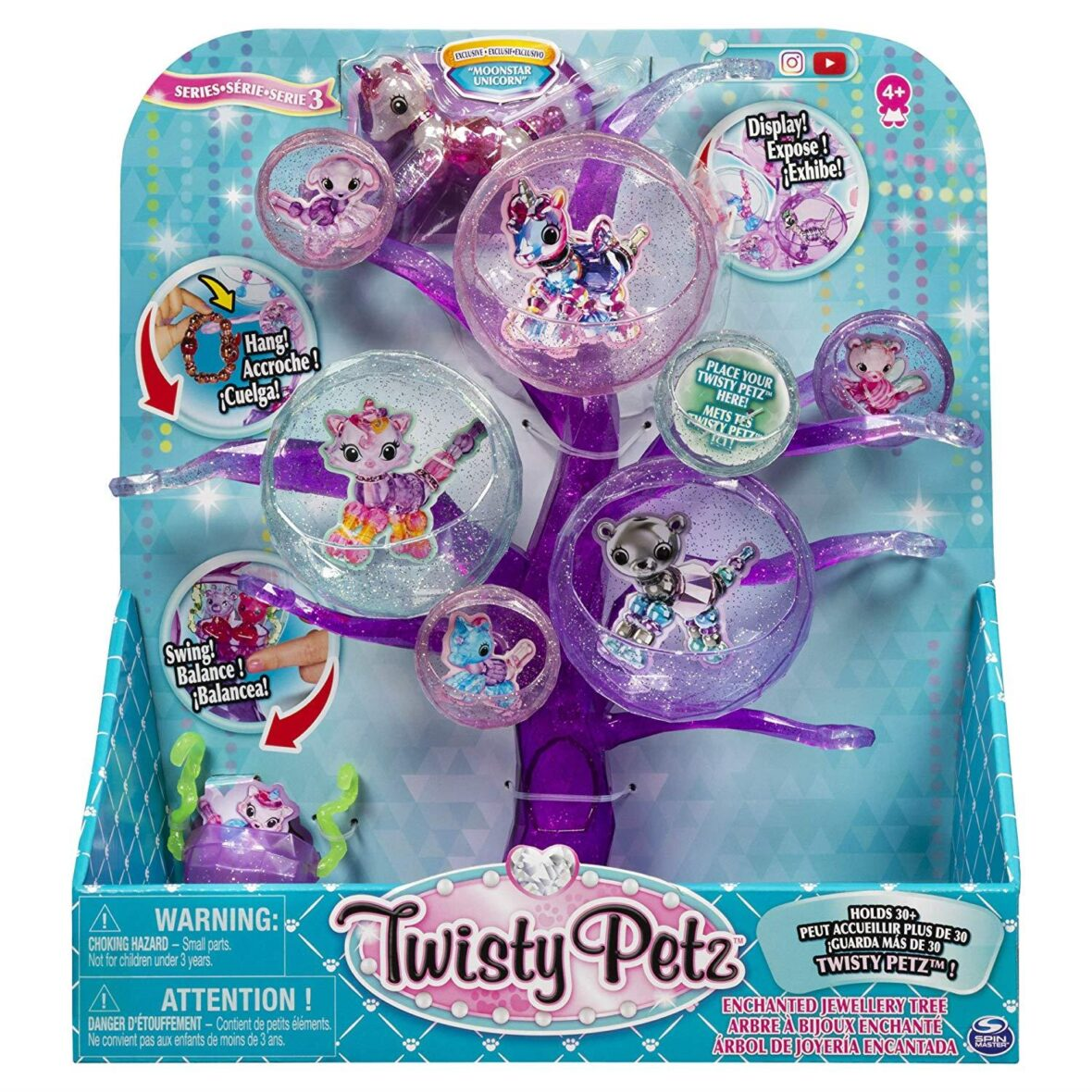 SPIN MASTER Twisty Petz 6053562 Series 3, Enchanted Jewellery Tree With Exclusive Collectible Bracelet
