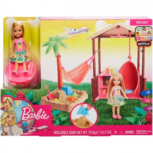 Barbie Chelsea doll and Tiki Hut play set