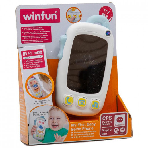 Winfun My First Baby Selfie Phone With Light And Sound – Blue