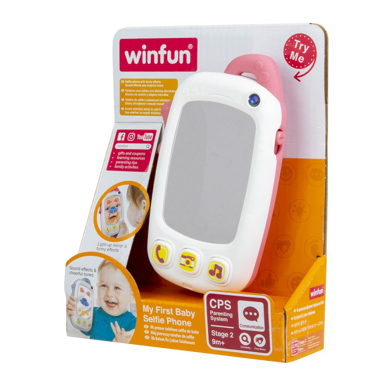 Winfun My First Baby Selfie Phone With Light And Sound – Pink
