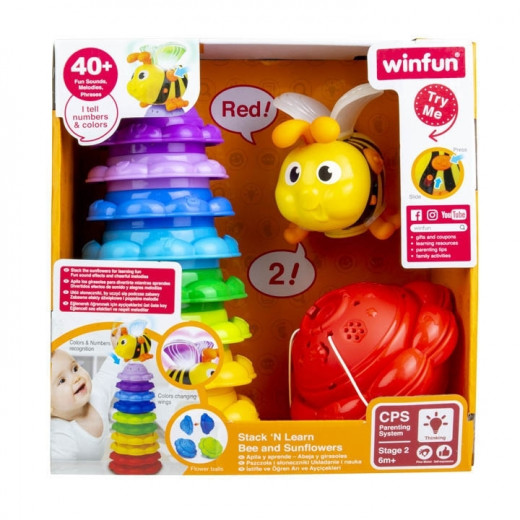 Winfun Stack 'N Learn Bee and Sunflowers