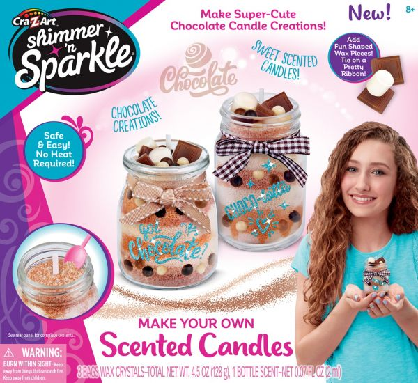 CraZArt Shimmer N Sparkle Scented Candles Chocolate