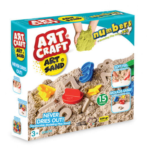 Art Craft Numbers Modelling Play Sand Set 500 Gr